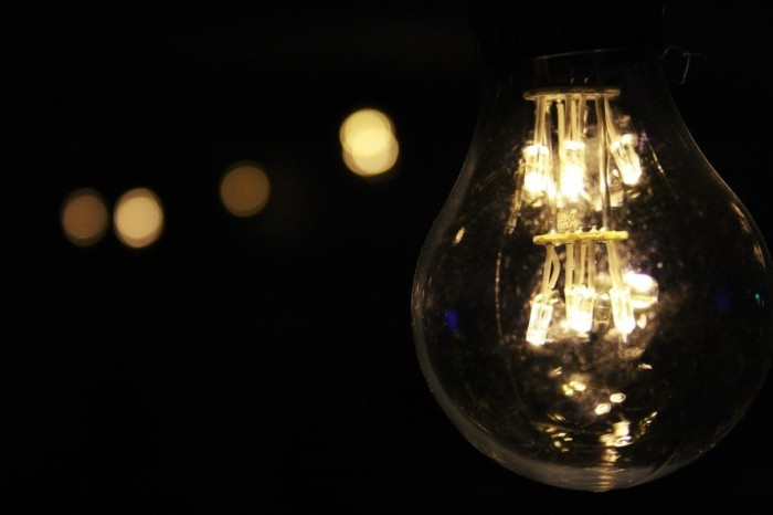 Light bulb in the dark